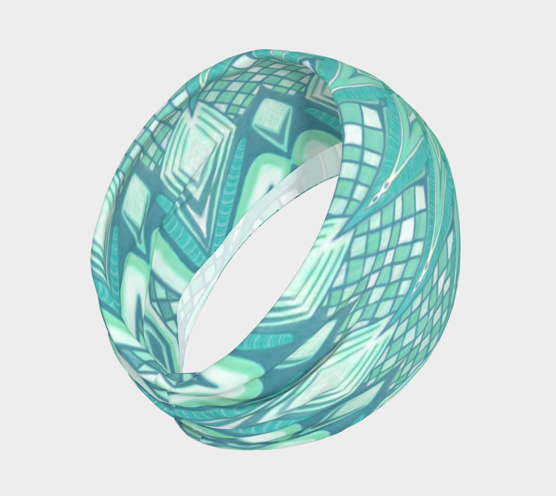 Aperçu de Burst Mandala Turquoise Headband #2