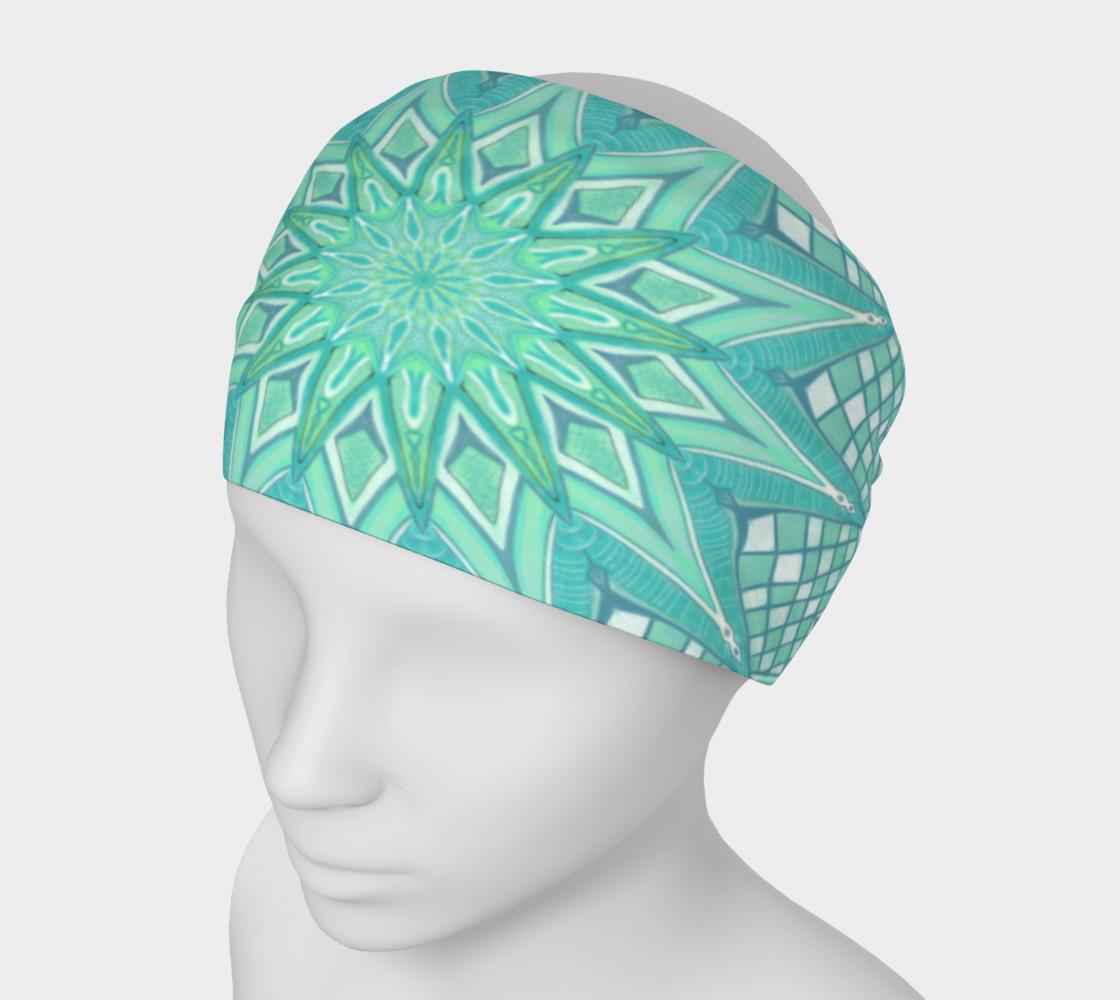 Aperçu de Burst Mandala Turquoise Headband #1