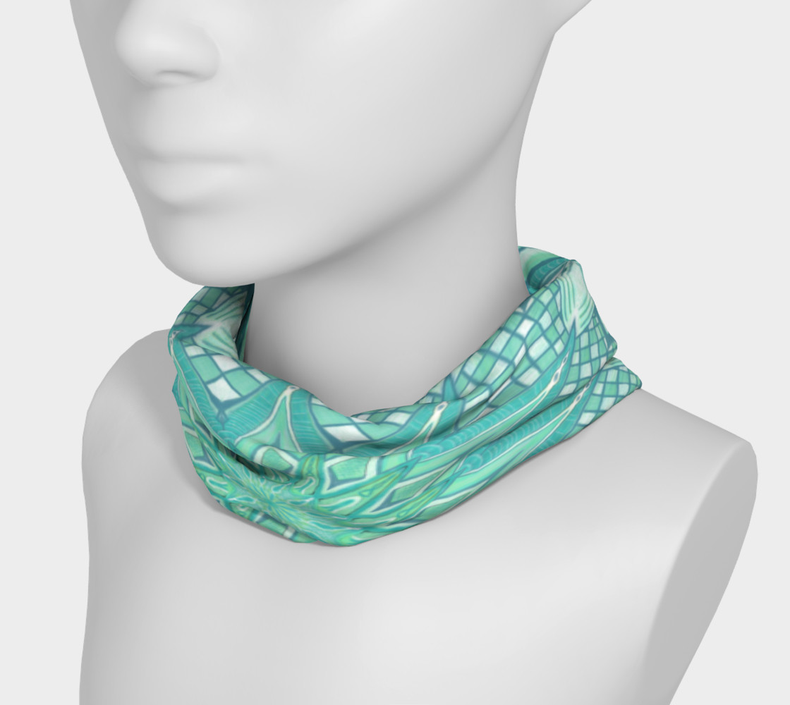 Aperçu de Burst Mandala Turquoise Headband #3