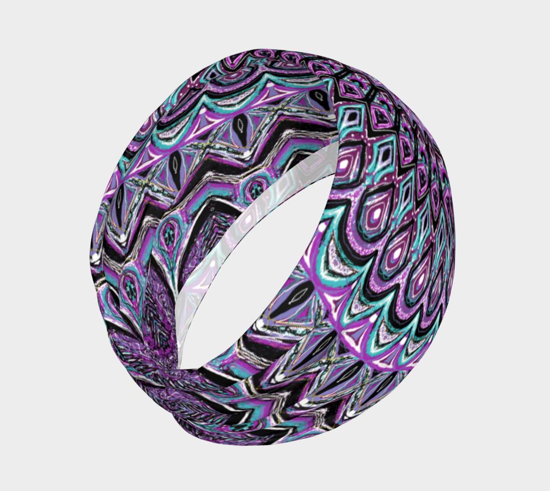 Aperçu de Blackberry Bliss Mandala Headband #2