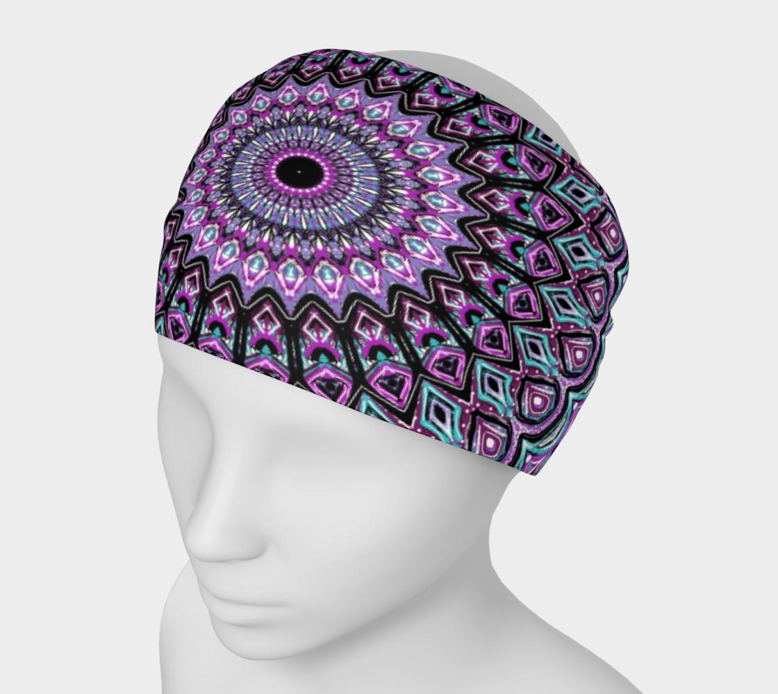 Aperçu de Blackberry Bliss Mandala Headband #1