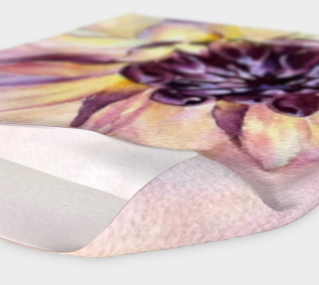 Purple Yellow Dahlia HeadBand preview #4