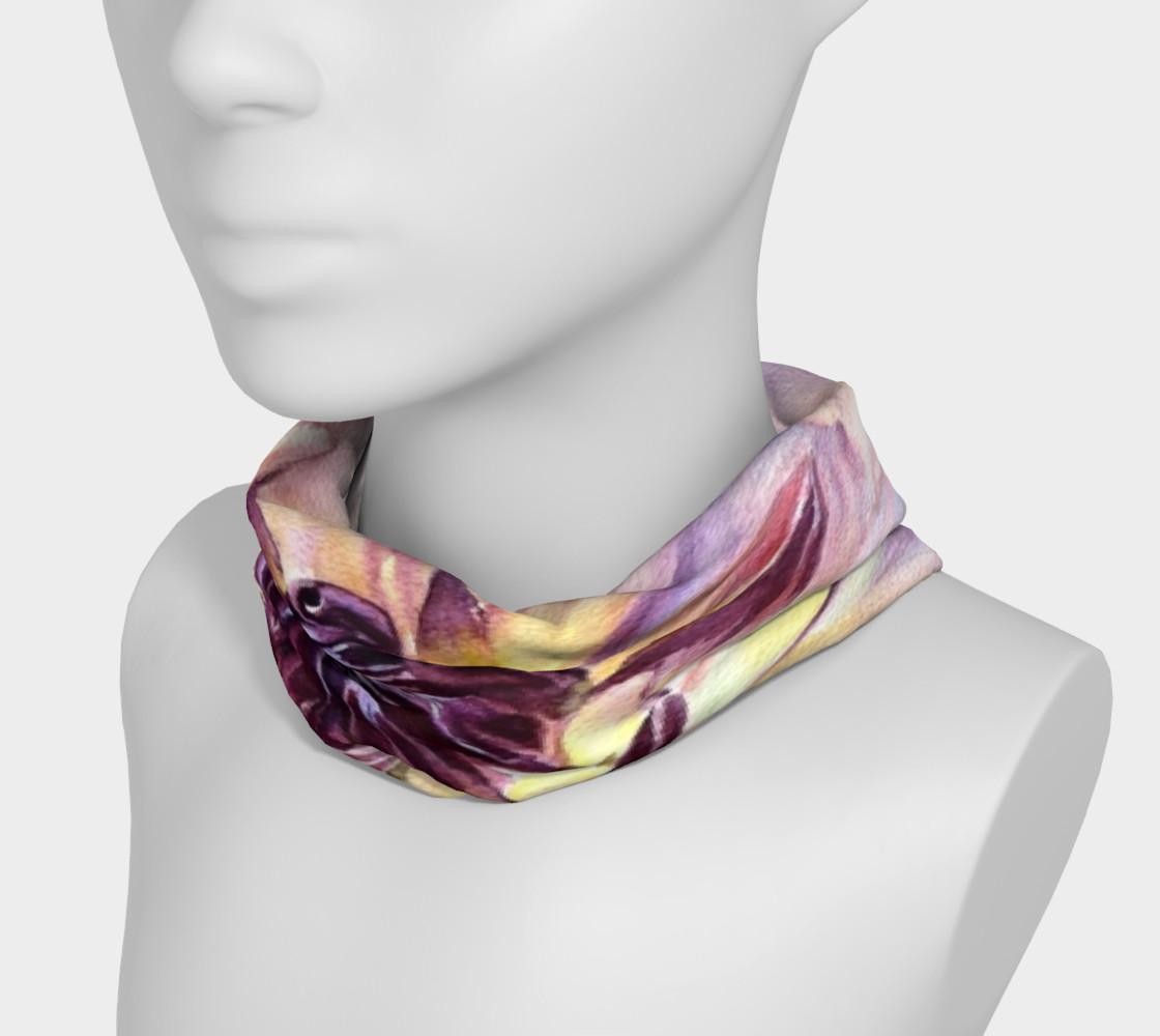 Purple Yellow Dahlia HeadBand preview #3