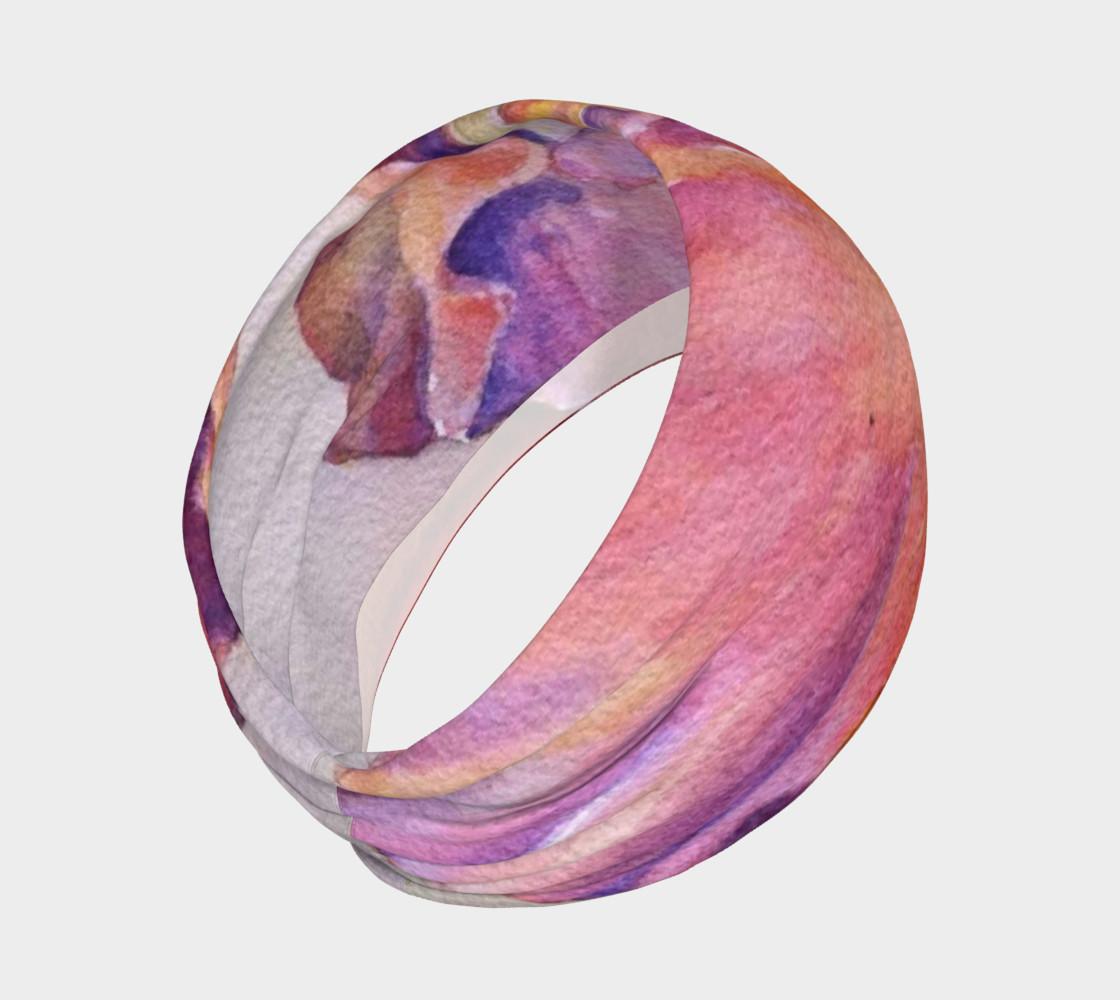 Pink Iris Petals Head Band preview #2