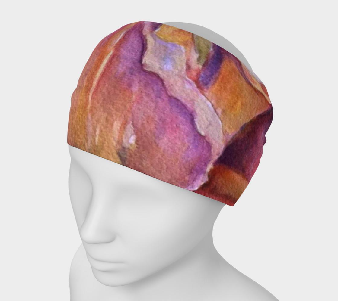 Pink Iris Petals Head Band preview #1