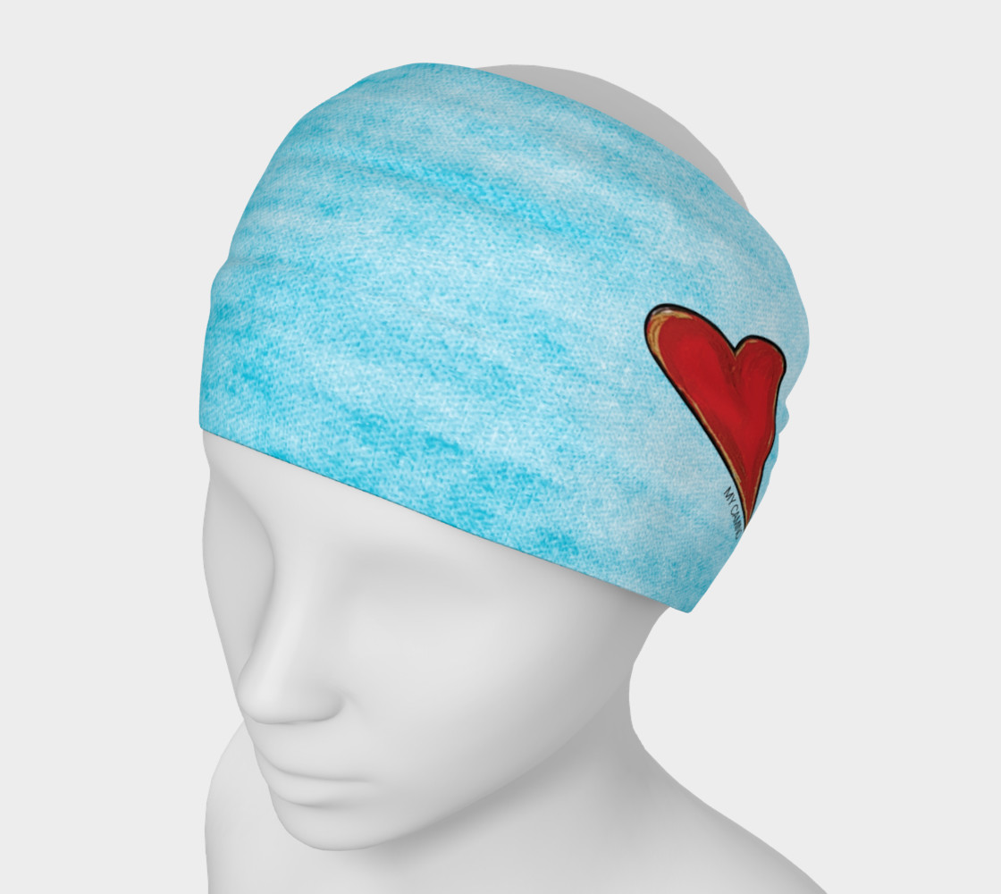 Headband-red heart preview #1