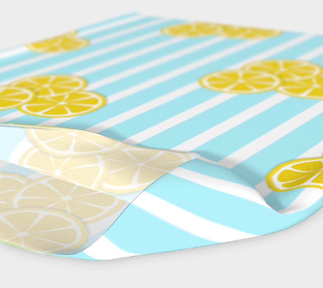 Lemon Slices on Light Blue Stripes preview #4