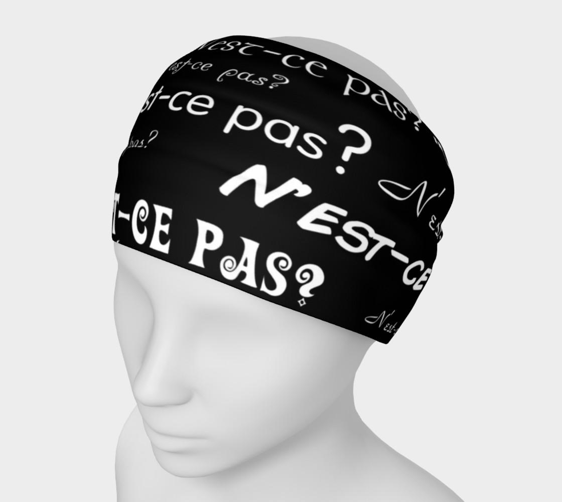 White N'est-ce Pas Headband preview #1