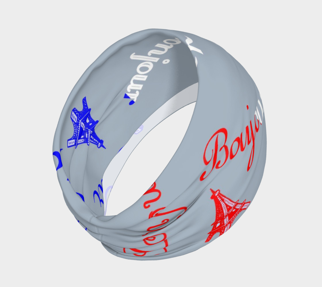 French Flag Bonjour Headband thumbnail #3