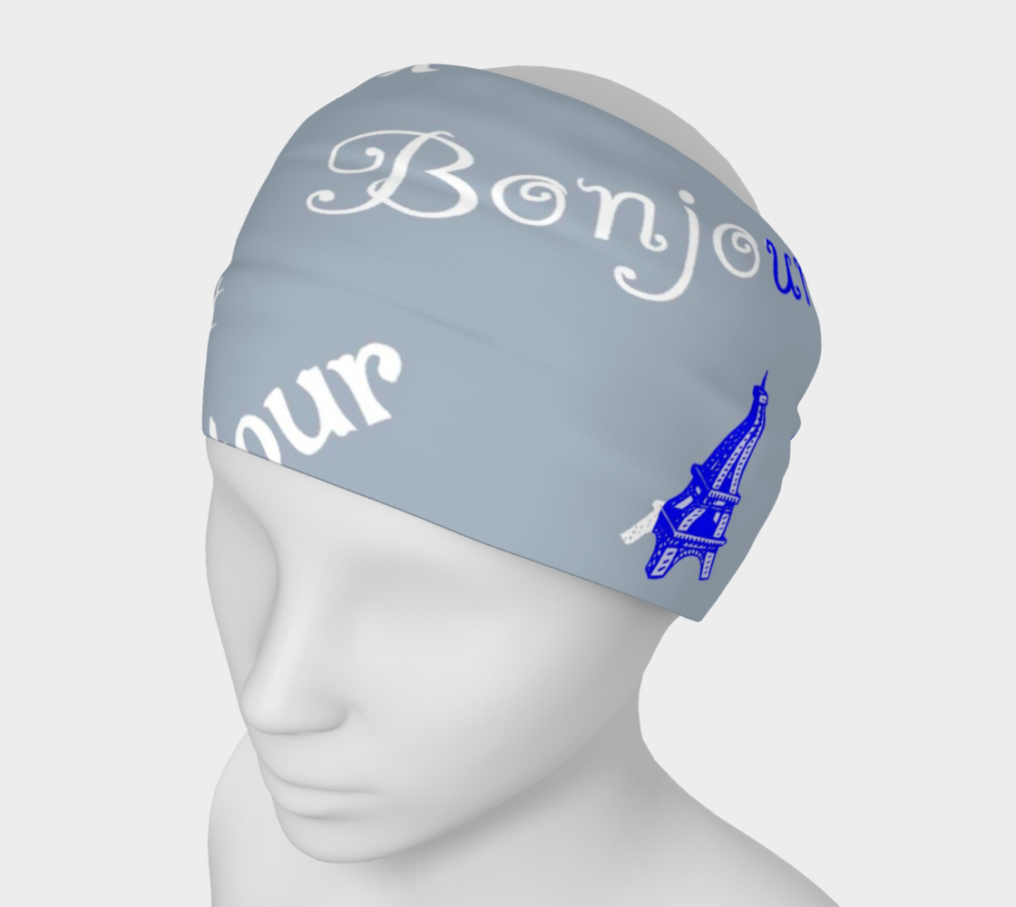 French Flag Bonjour Headband 3D preview