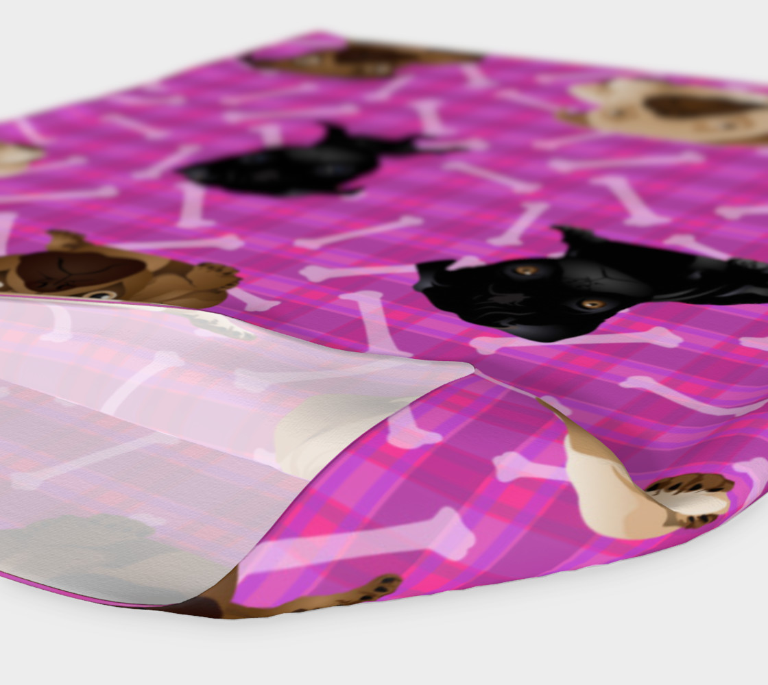 Aperçu de Bright Pink Pug Headband #4
