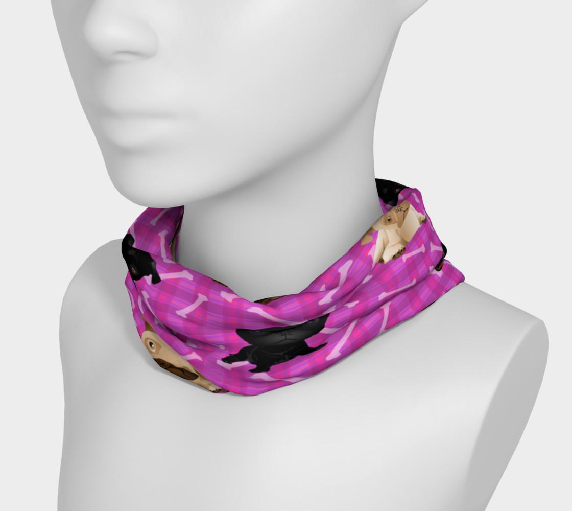 Aperçu de Bright Pink Pug Headband #3
