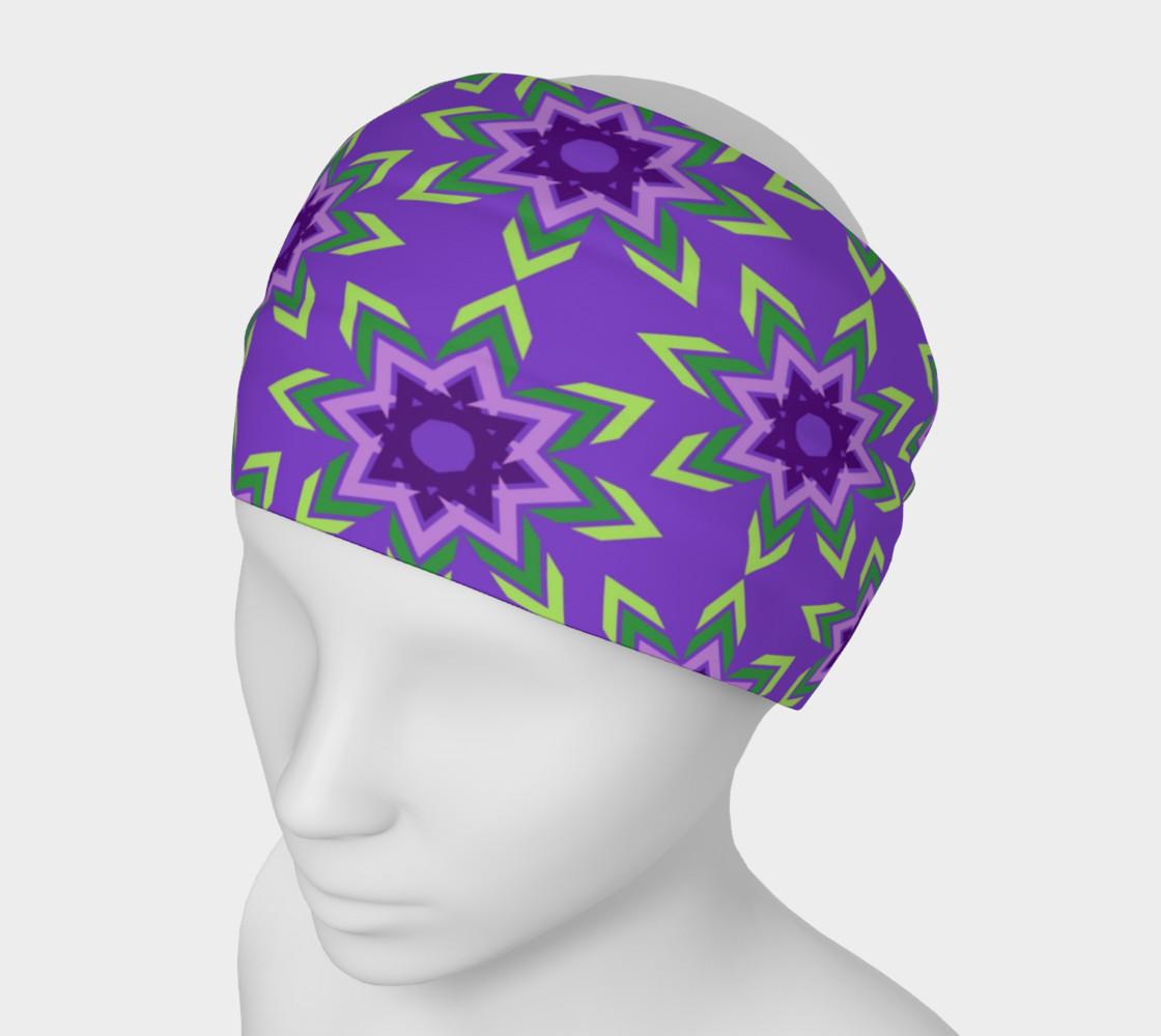 Aperçu de Purple and Green Geometric Abstract Tribal #1