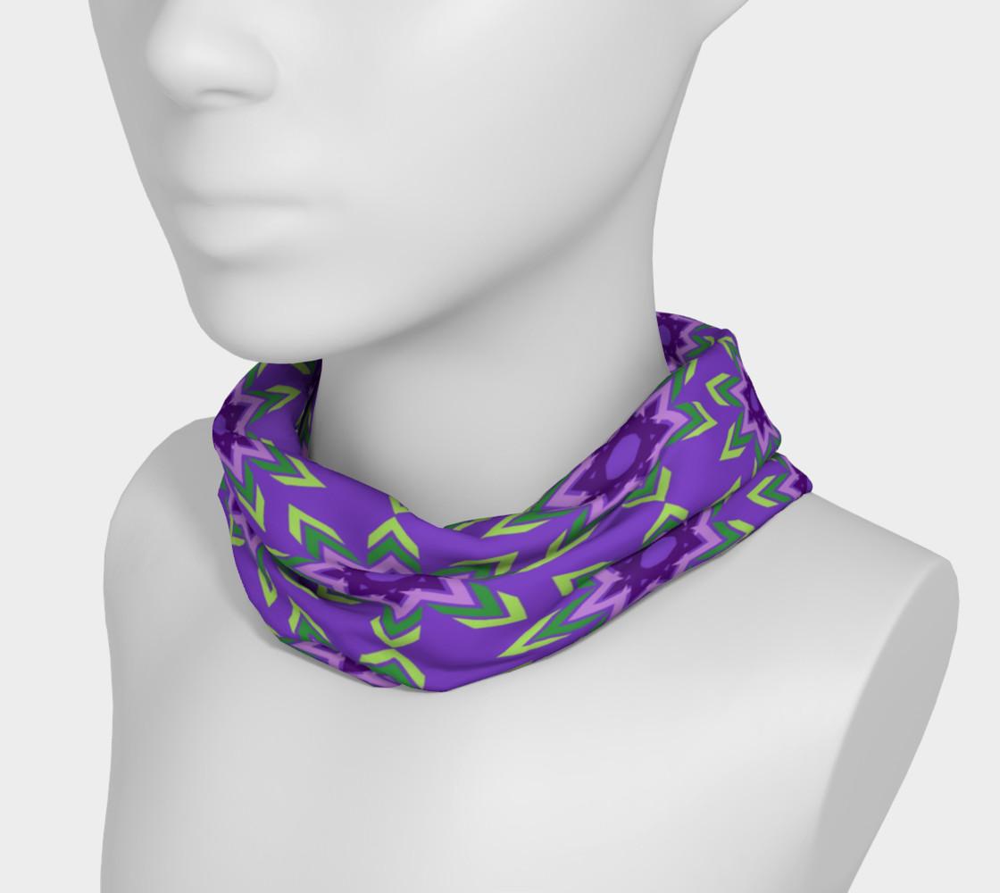 Aperçu de Purple and Green Geometric Abstract Tribal #3