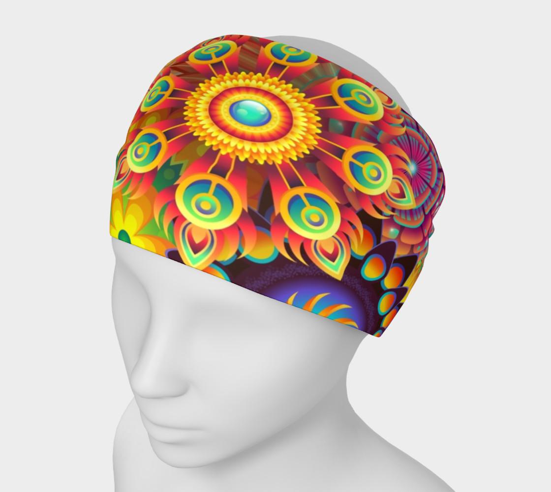 Aperçu de Vintage Retro Flowers Headband #1