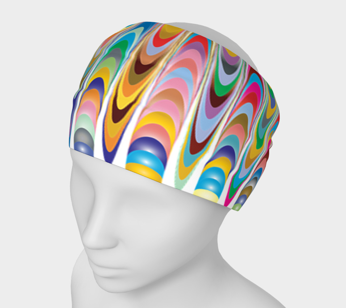 Funky rainbow swirls headband preview #1
