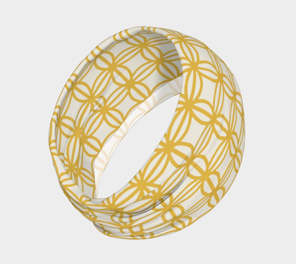 Aperçu de Gold vintage flower design headband #2