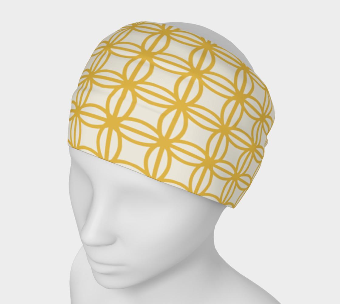 Aperçu de Gold vintage flower design headband #1