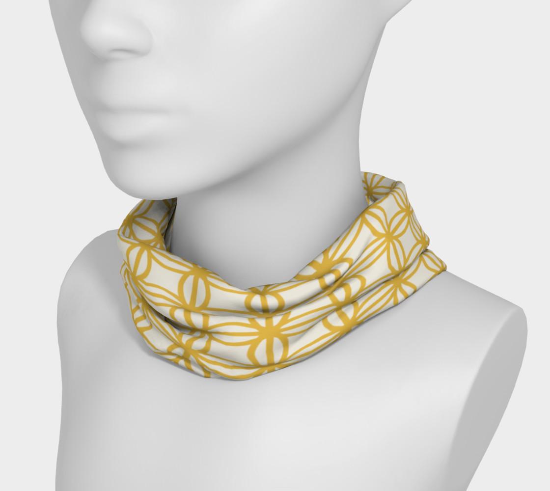 Aperçu de Gold vintage flower design headband #3