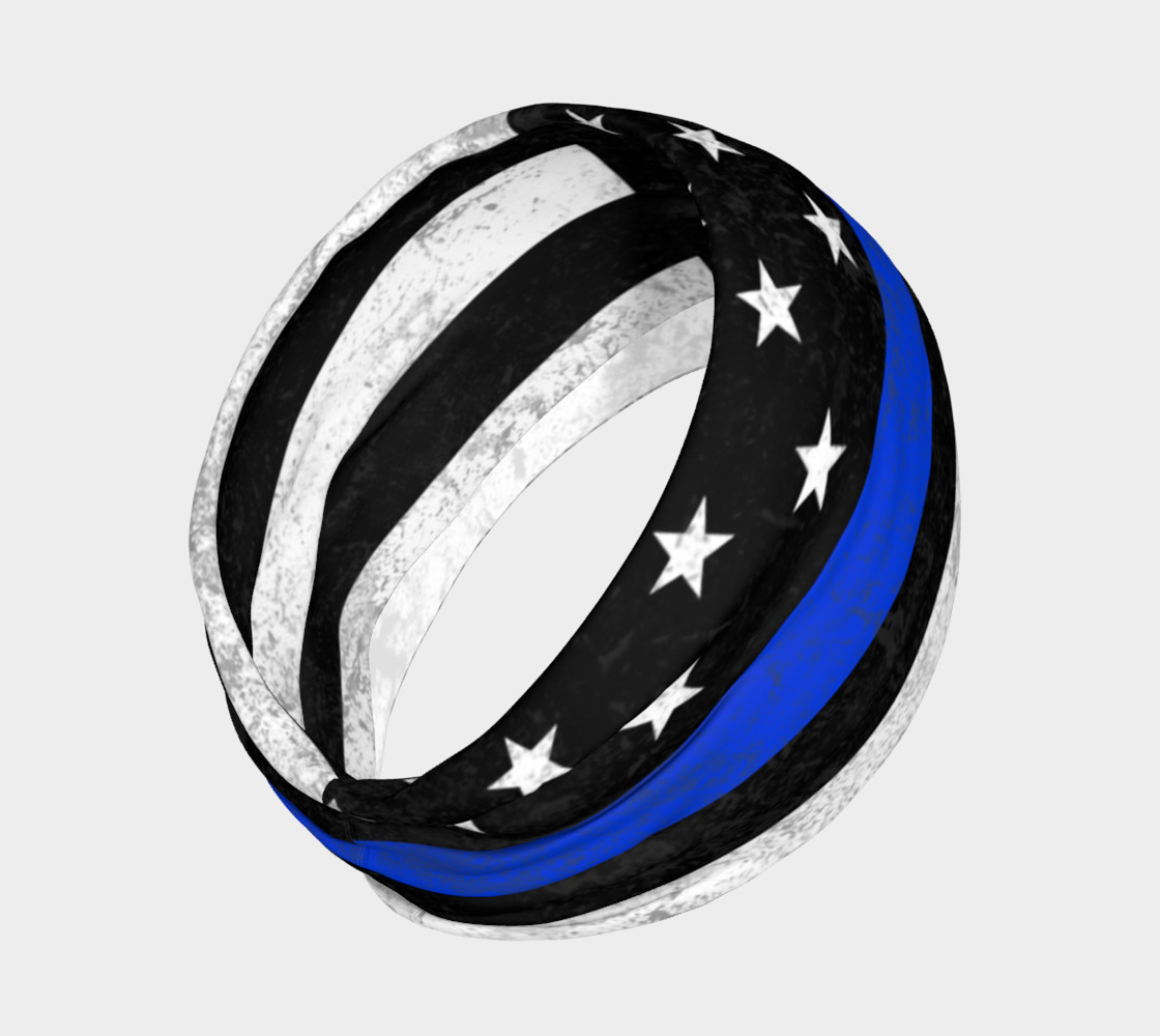 Thin Blue Line Flag Headband preview #2