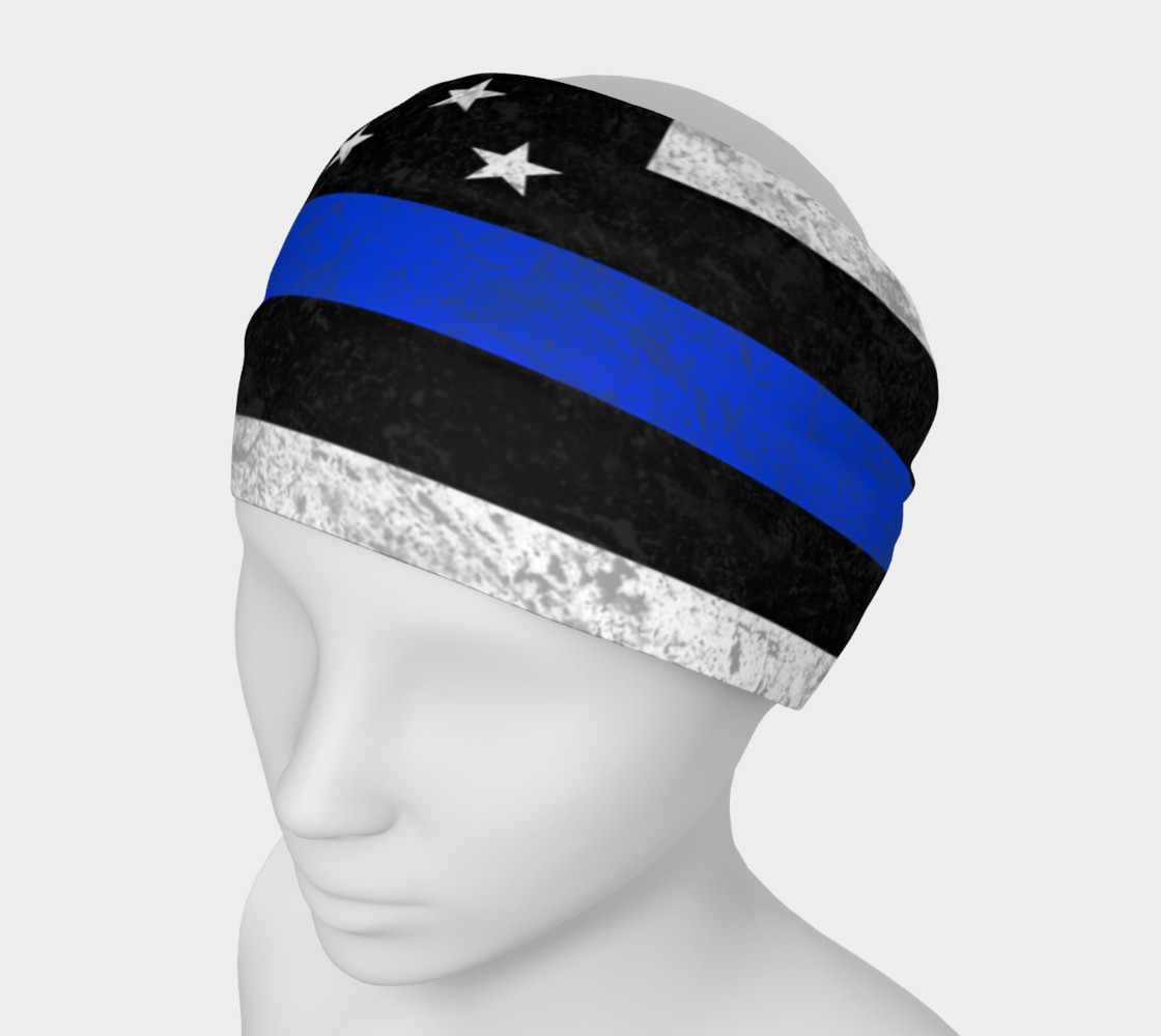 Thin Blue Line Flag Headband preview #1