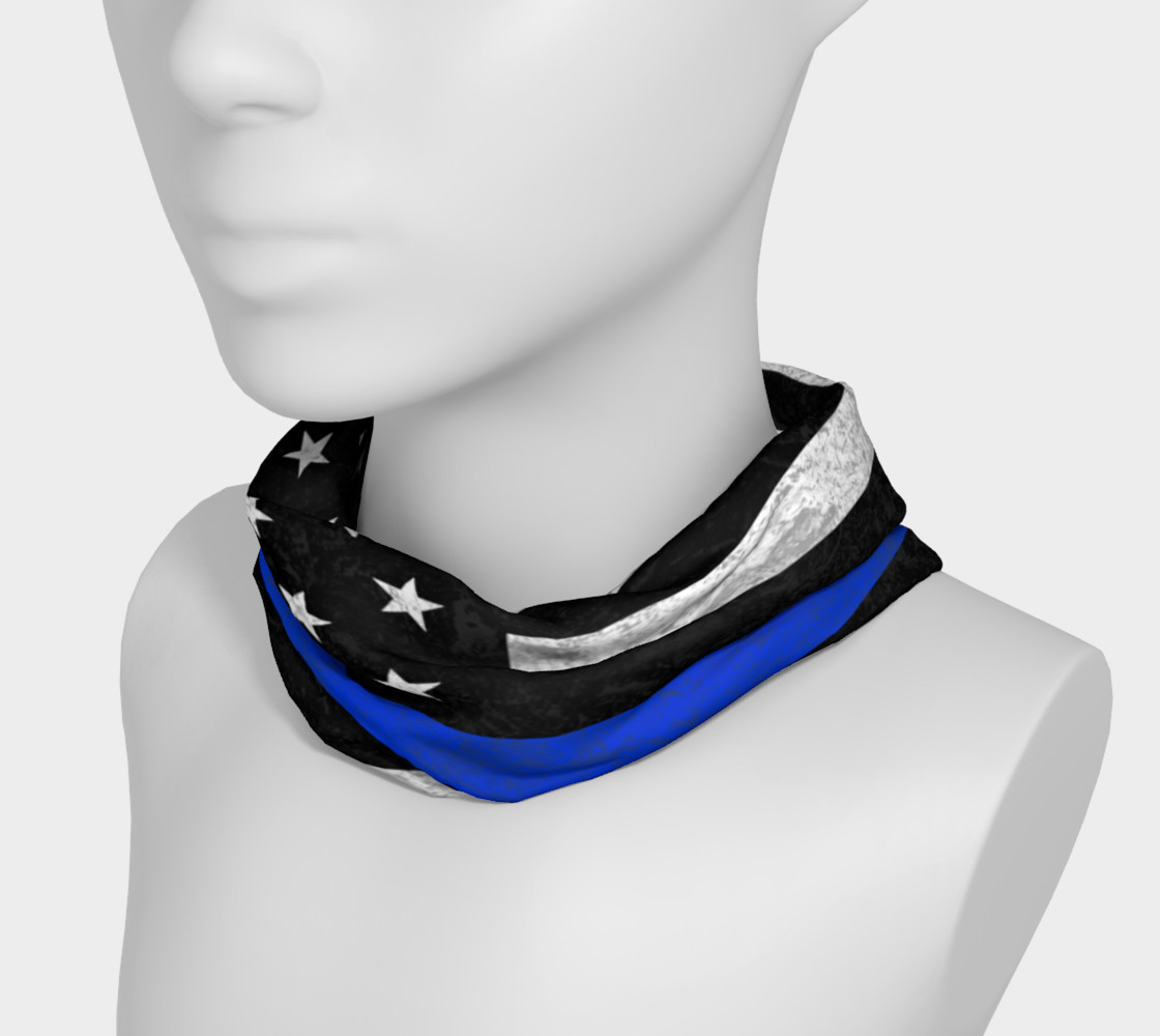 Thin Blue Line Flag Headband preview #3