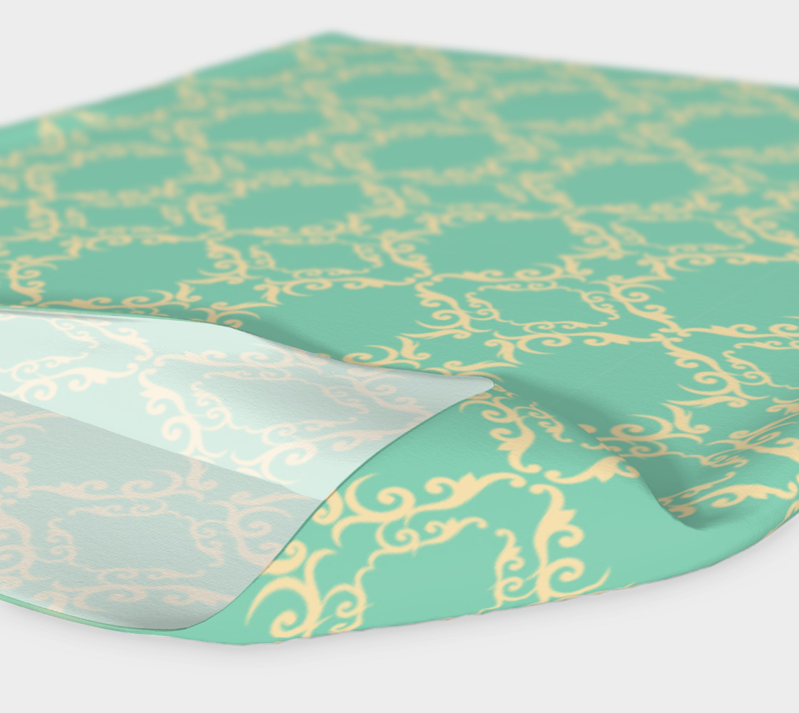 Teal and cream vintage head band preview #4