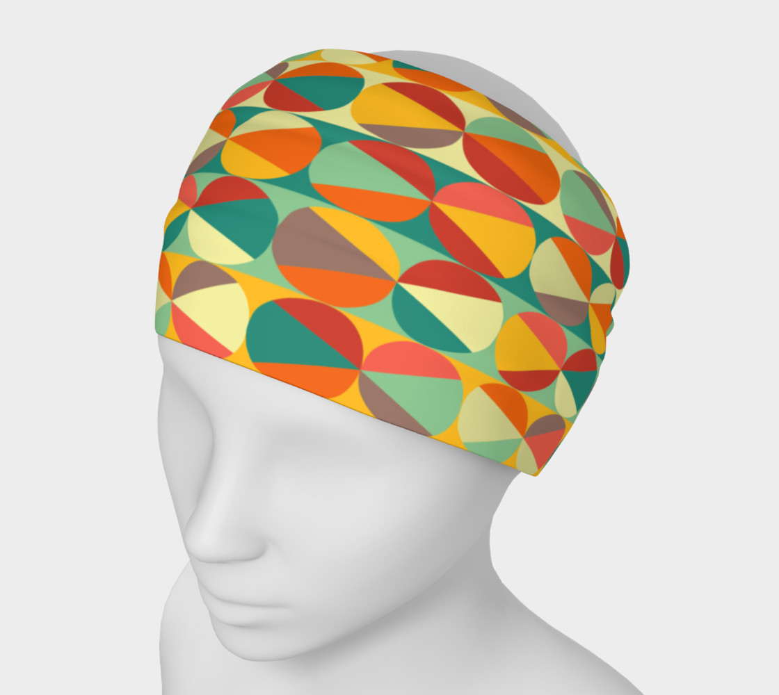 Retro geometric pattern headband 3D preview