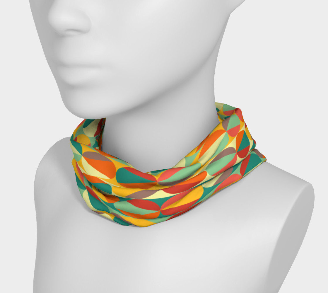 Retro geometric pattern headband thumbnail #4