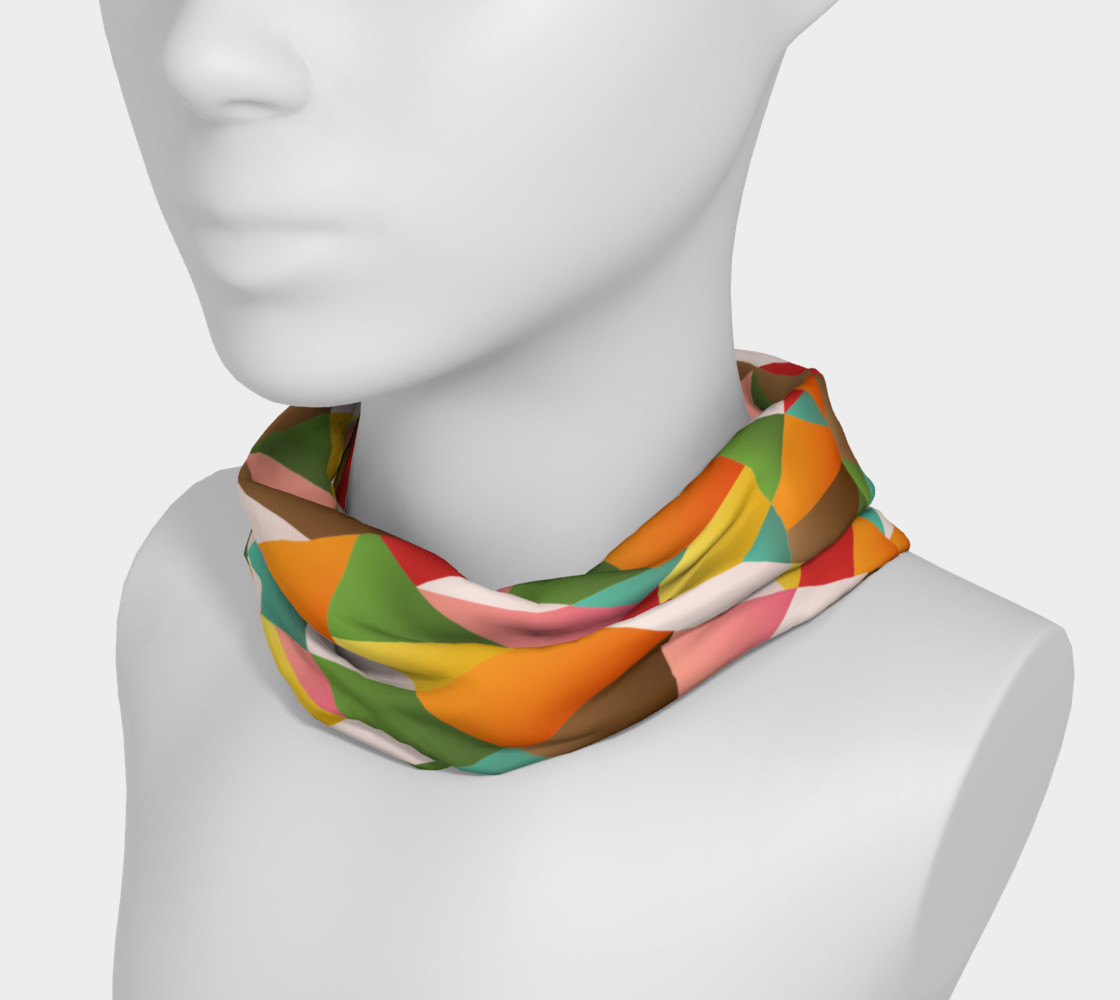Funky geometric shapes head band preview #3
