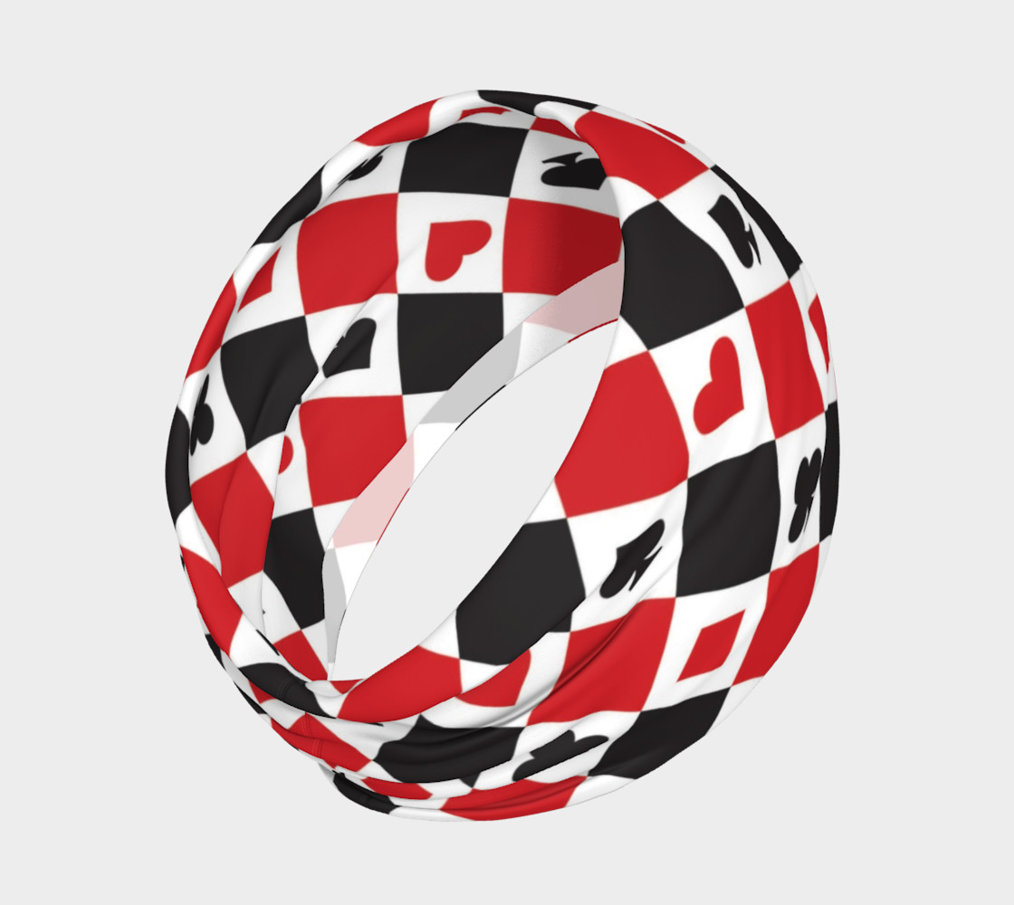 Casino - Hearts, Clubs, Spades, Diamonds Harlequin Pattern preview #2