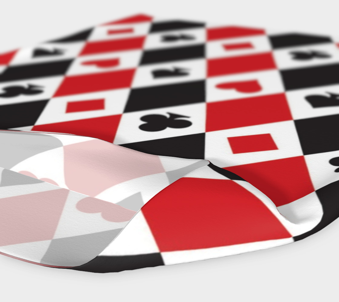 Casino - Hearts, Clubs, Spades, Diamonds Harlequin Pattern preview #4