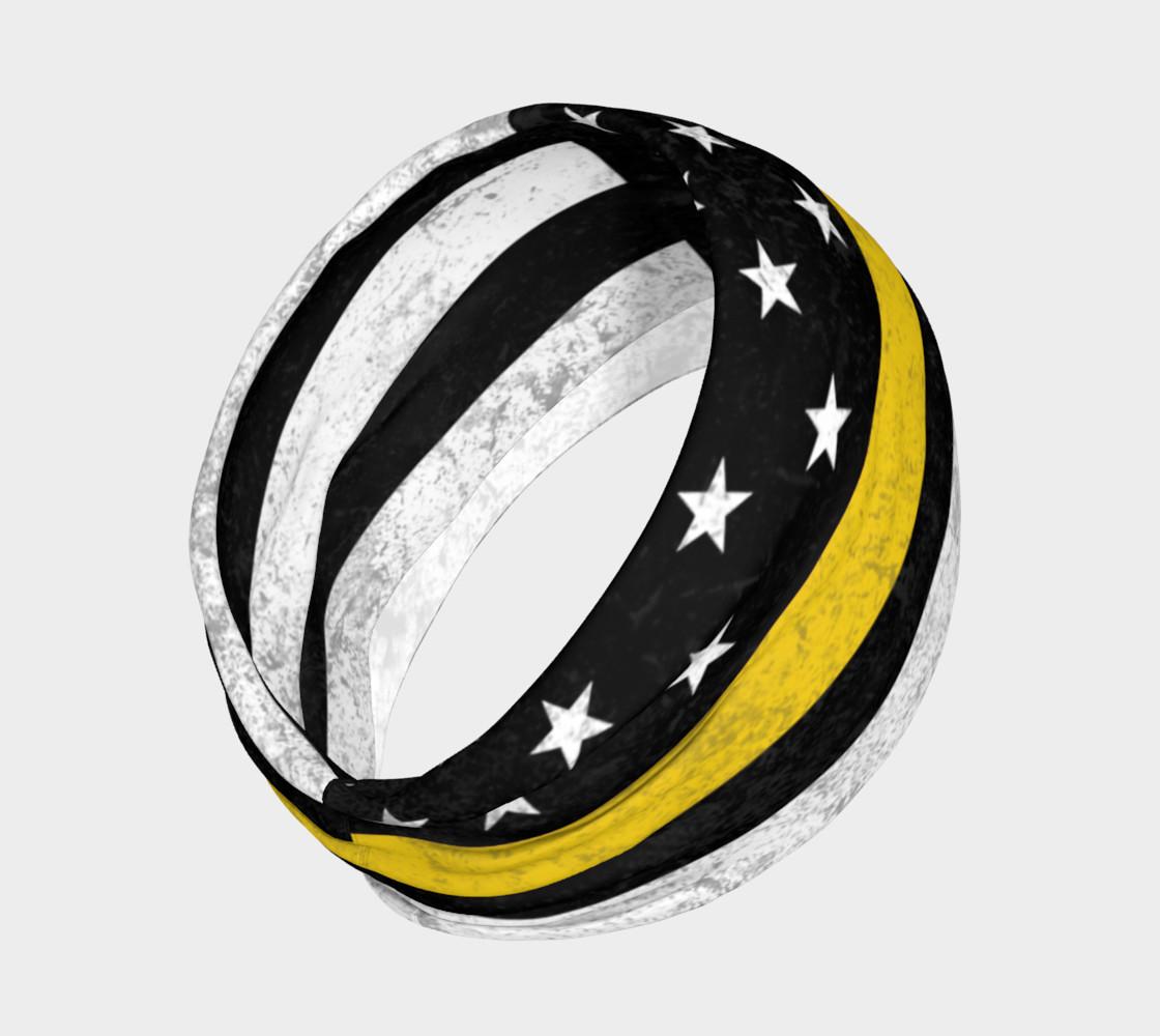 Aperçu de Thin Gold Line Flag Headband #2