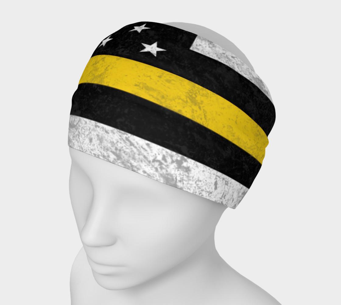 Aperçu de Thin Gold Line Flag Headband #1