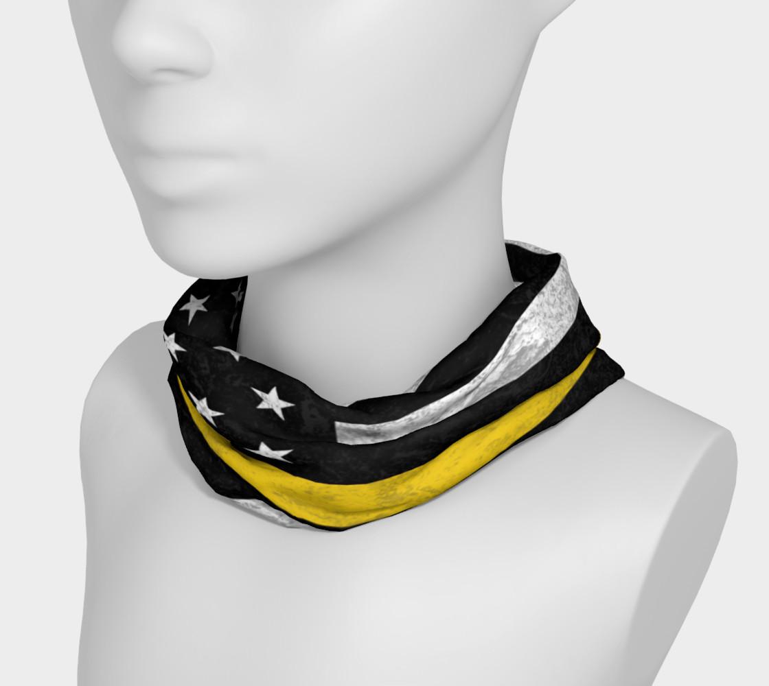 Aperçu de Thin Gold Line Flag Headband #3