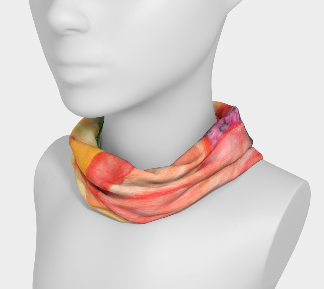 Giant Orange Poppy Headband preview #3