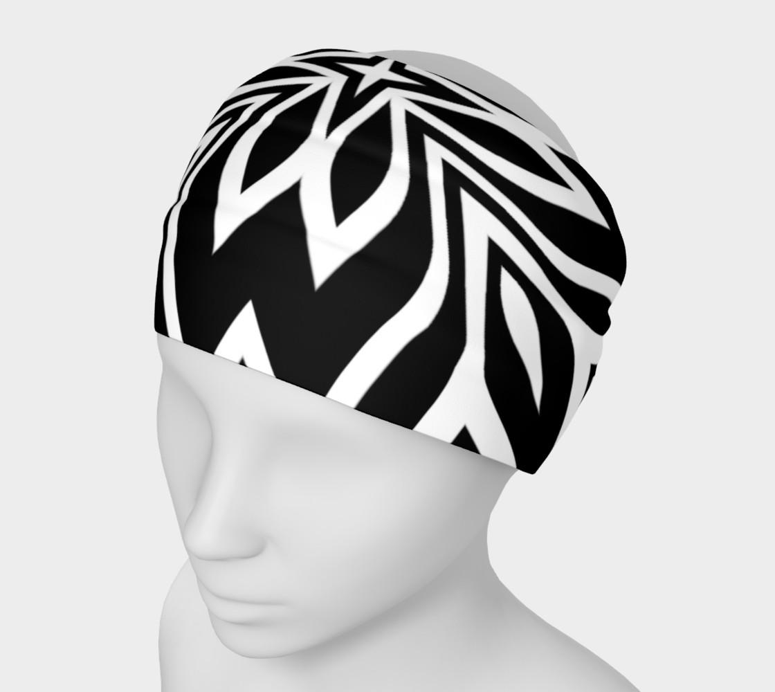 Funky Tribe Black+White Pattern V2 preview #1