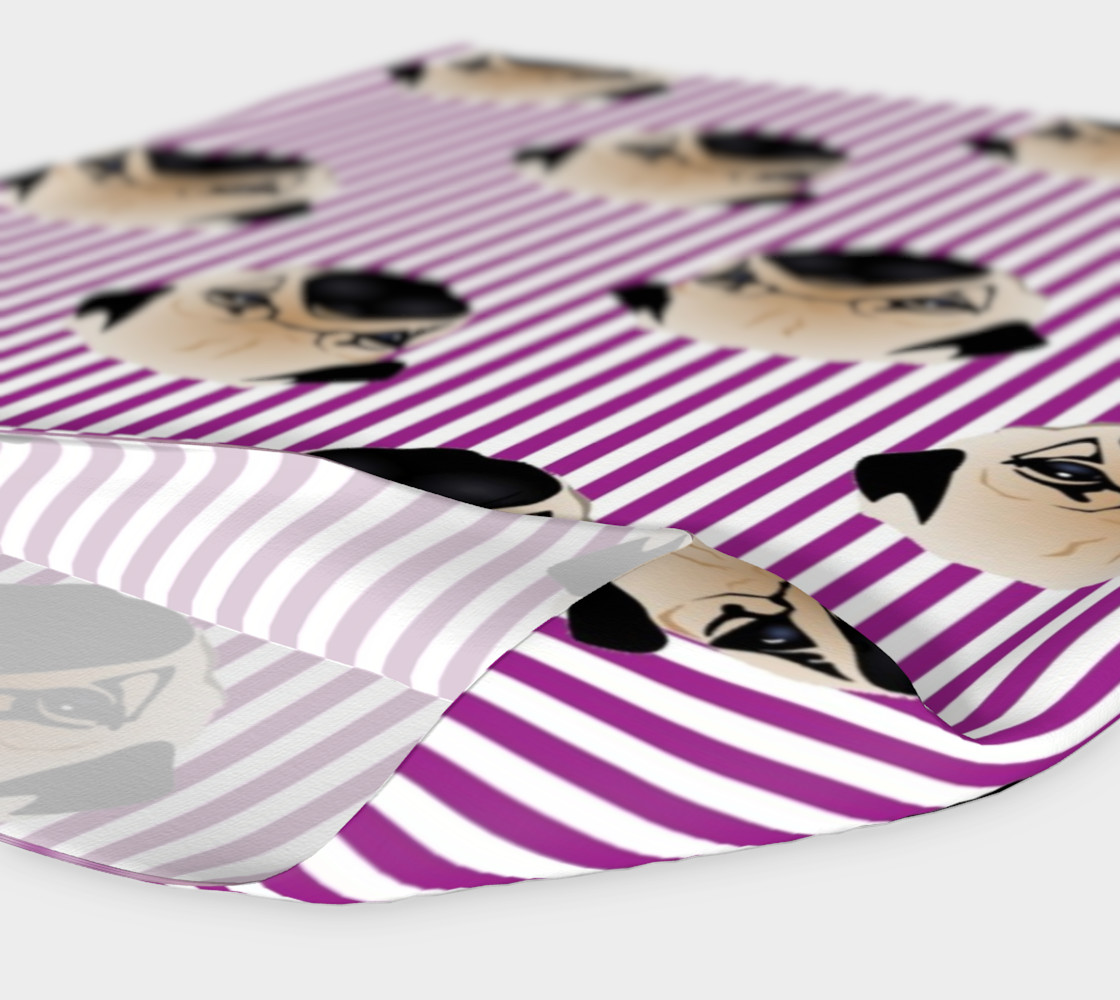Pugs on Purple Stripes preview #4