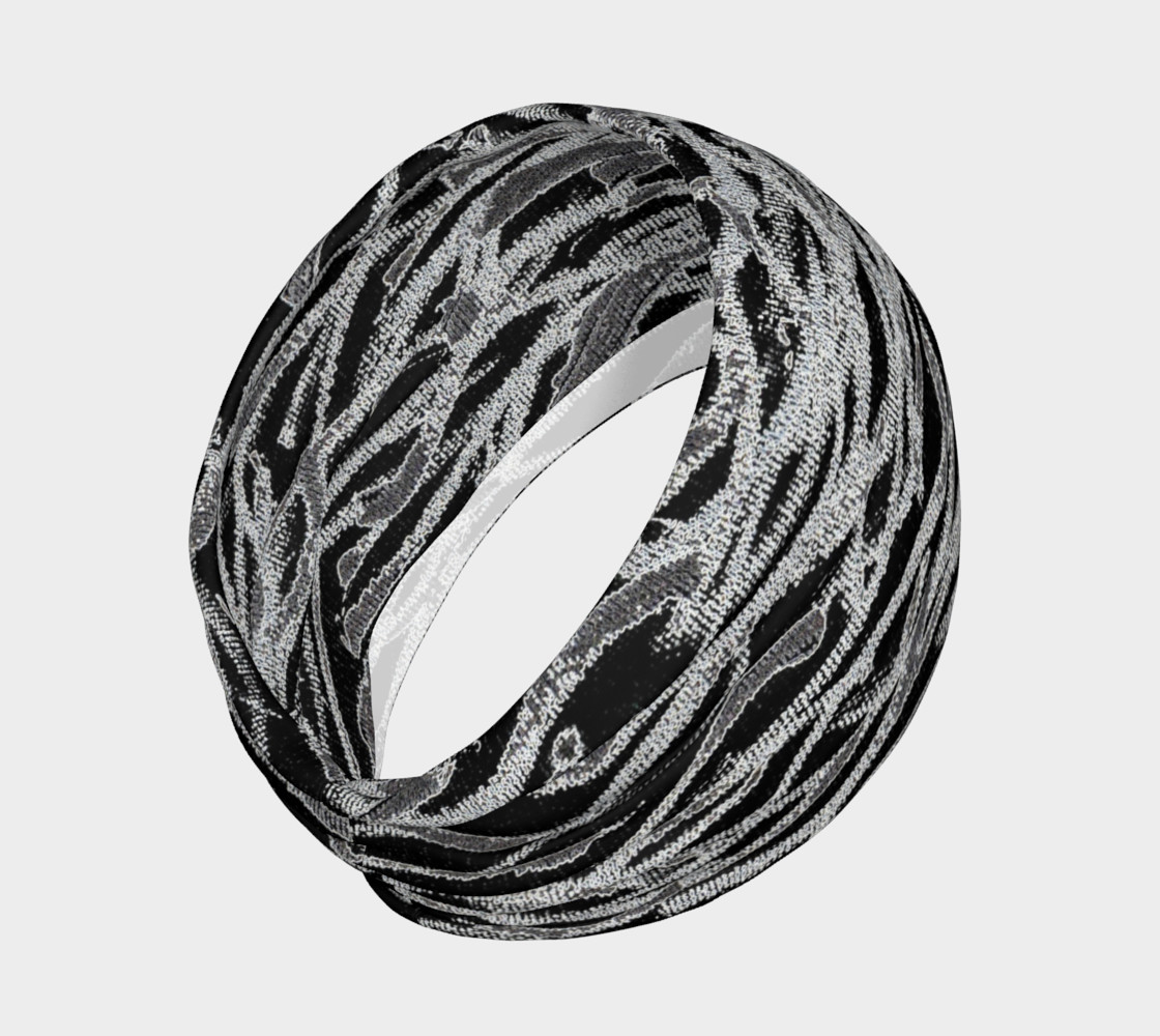 Black White Abstract Lines Headband preview #2