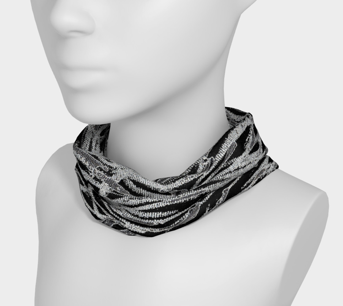 Black White Abstract Lines Headband preview #3