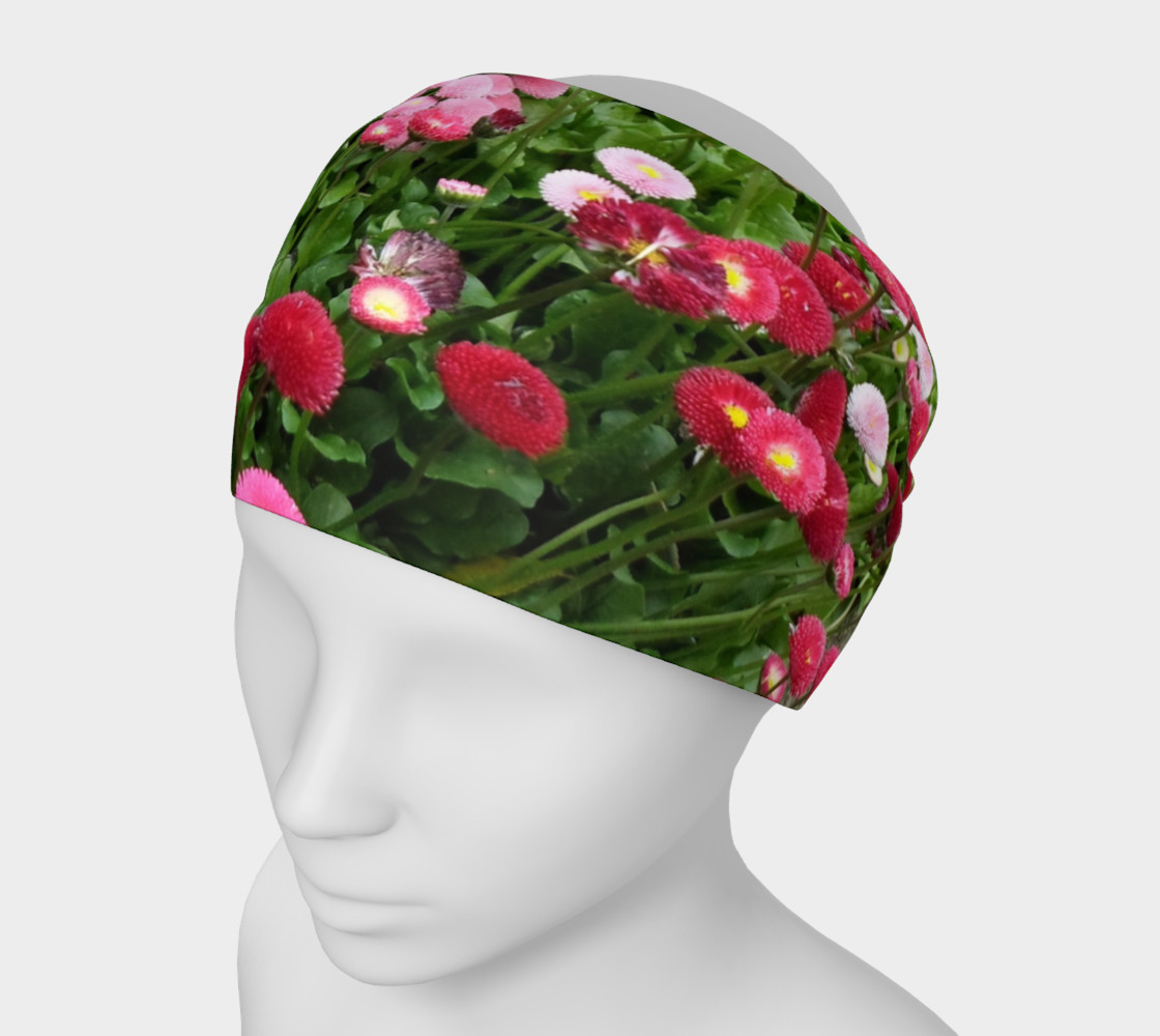 Pink Flowers Headband preview #1