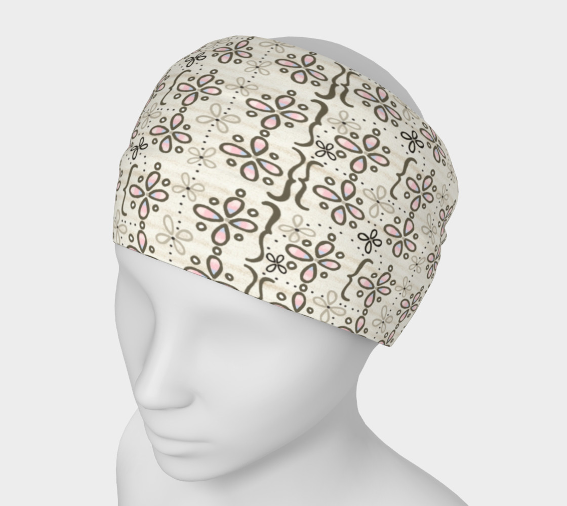 Mona's Dress Patterned Headband 3D preview
