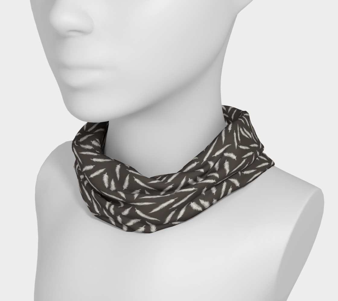 Rebel Feathers Grey Patterned Headband preview #3
