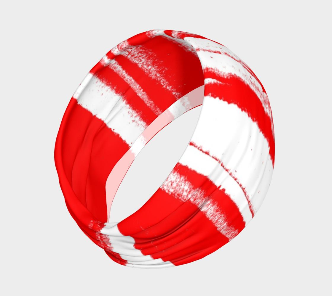 Red White Stripe Headband preview #2