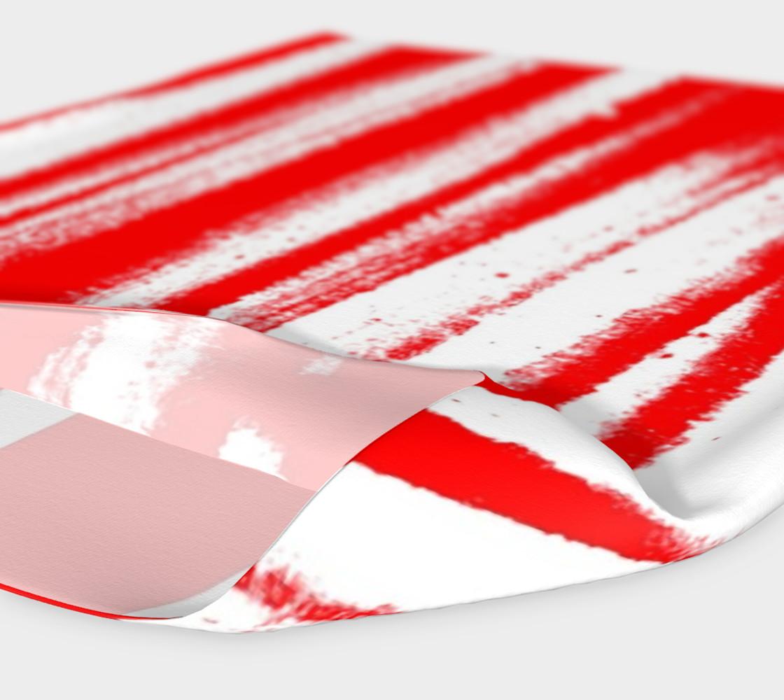 Red White Stripe Headband preview #4