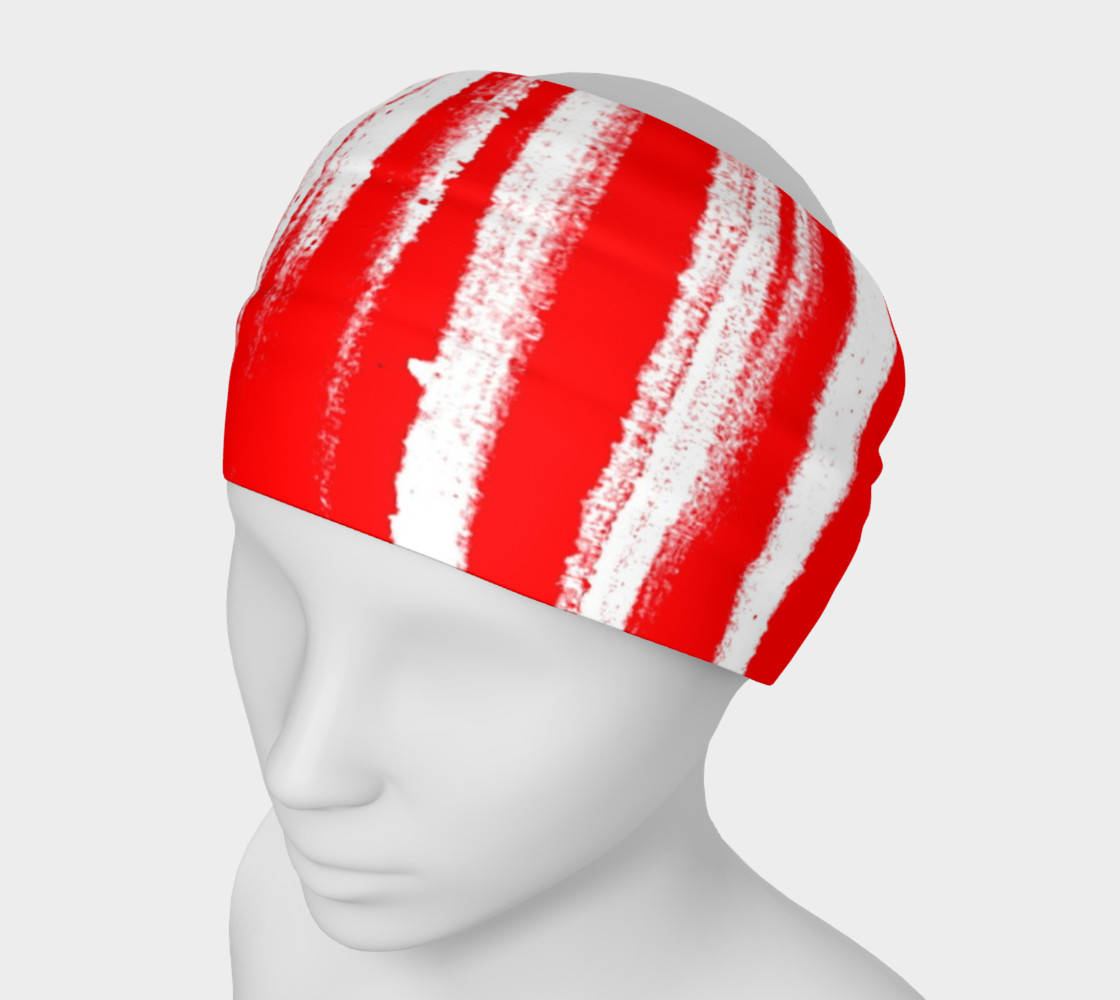 Red White Stripe Headband preview #1