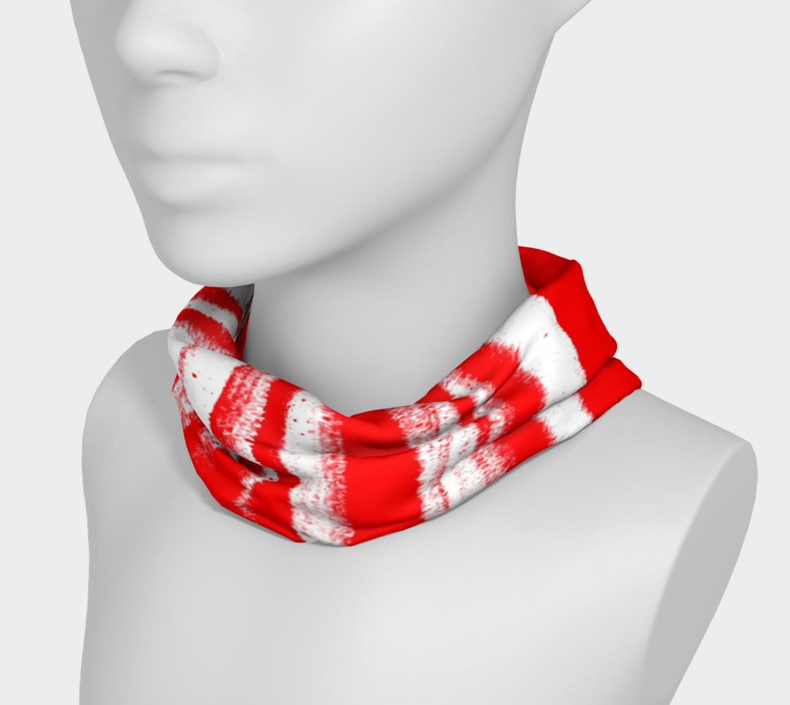 Red White Stripe Headband preview #3