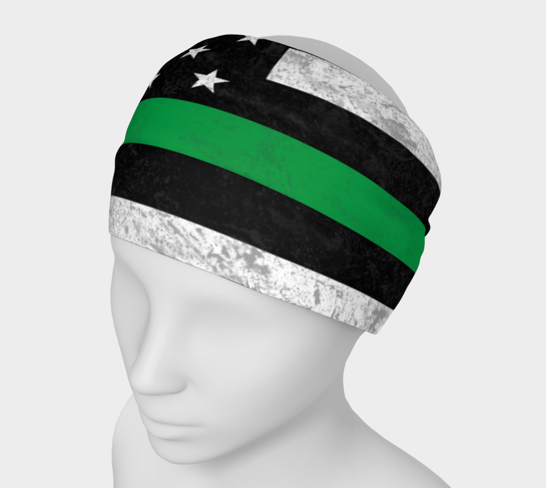 Aperçu de Thin Green Line Headband #1