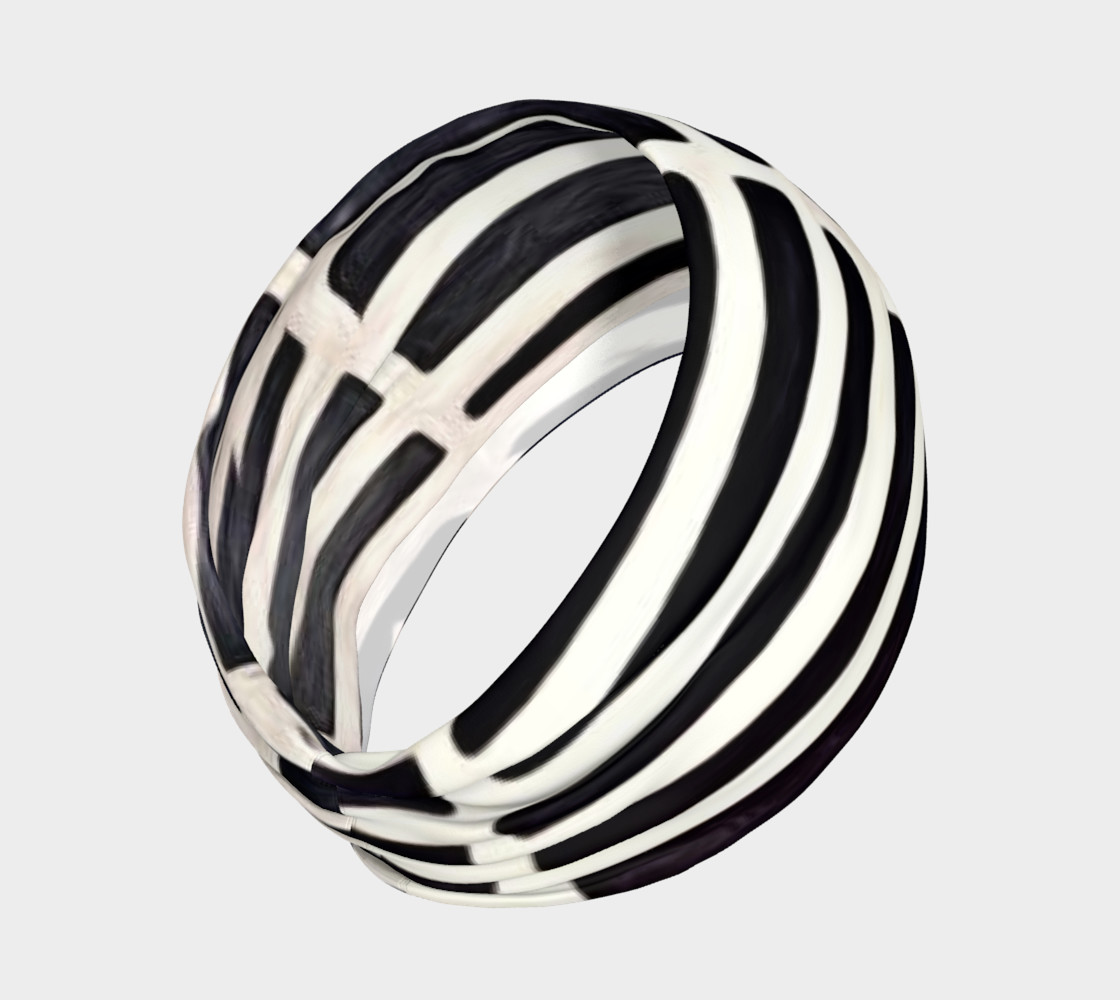 black and white head band preview #2
