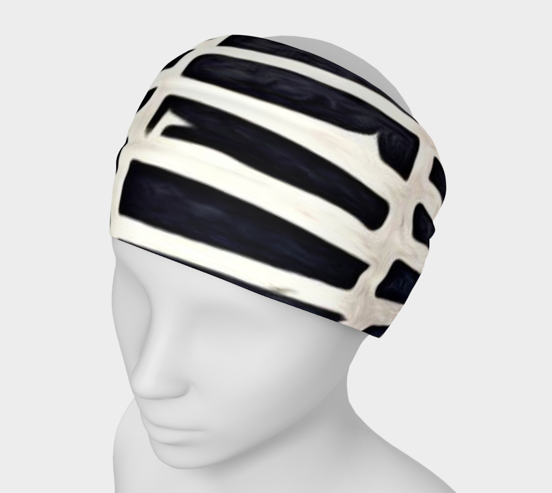 black and white head band preview #1